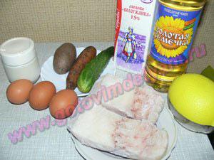 Салат мимоза с рыбой для детей