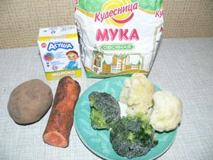 Ингредиенты в суп овощной для детей