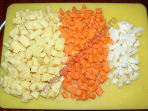 Приготовление супа с фрикадельками для детей