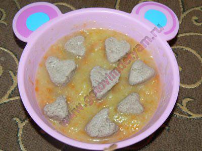 Суп с фрикадельками для детей с года