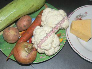 Легкий овощной суп для детей
