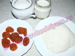 Ингредиенты для начинки в овсяные блины для детей