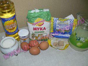 Ингредиенты в овсяные блины для детей