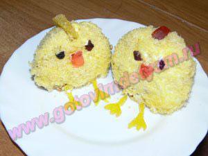 Кексы для детей цыплята
