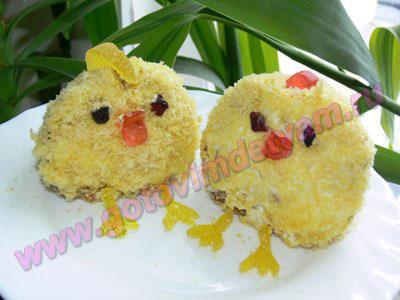Детские кексы цыплята