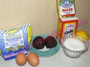 Ингредиенты для печенья из свеклы детям