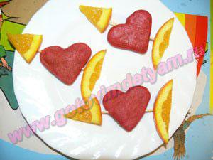 Печенье сердечки детям
