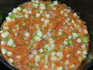 Каша с овощами на пару для детей