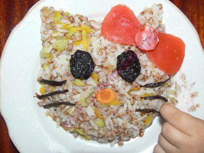 Каша с овощами для детей