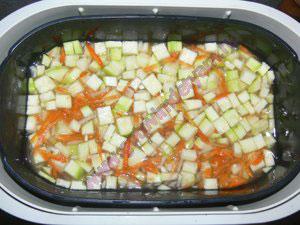 Каша с овощами в пароварке для детей