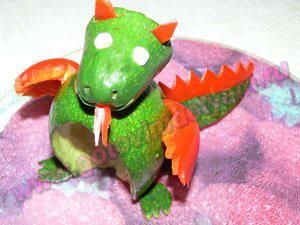 Салат новогодний дракон для детей