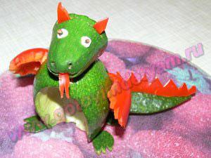 Салат дракон для детей