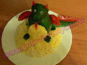 Салат из грудки курицы для детей