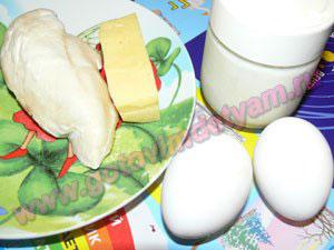 Ингредиенты для салата из грудки курицы для детей