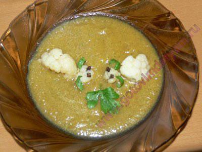 Суп пюре из цветной капусты ребенку